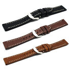 22mm Genuine Leather Retro Watchband Replacement Strap for Samsung Gear 2 R380