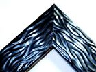 2 Wide Black Pearl Wave Wood Canvas Picture Frame Custom Made Standard Sizes