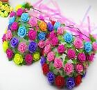 Women Girls Boho Rose Flower Hair Headband Garland Festival Party Wedding Adjust