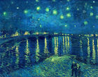 Starry Night over the Rhone Vincent van Gogh Canvas Art Print Painting Repro