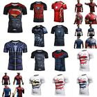 3D T-shirts Superheros Costume Short Sleeve Cosplay Cycling Compression Yoga