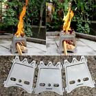 Portable Folding Wood Stove Lightweight Camping Cooking Solidified Burner W2V5