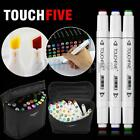 40 Color Touch Five Alcohol Graphic Art Twin Tip Pen Marker Broad Fine Point HOT