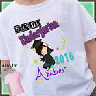 Girl Graduated KINDERGARTEN Shirt Personalized Name Year Grad Shirt