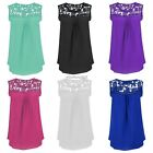 NEW Summer Women Sexy Lace Vest Top Sleeveless Blouse Casual Tank Tops T-Shirts