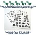 Ivy Self Adhesive Sticky Label Stickers Labels 12mm - 144 Black 00-99 Numbers
