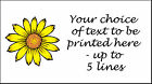 Sunflower Personalised Stickers ~ mini or medium size labels