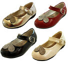 Baby Toddler Little Girls Patent Silver Sequins Velcro  Party Shoes Infant Size