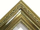 "2"" Wide Antique Gold Ornate Wood Picture Frame-High End-Standard Sizes"