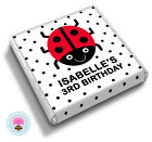 Personalised LADYBIRD Girl's Boy's 2nd 3rd 4th Birthday Party Favour Chocolates