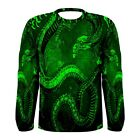 Chinese Green Dragon Long Sleeve T-Shirt All Over Sublimation Print