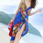 Boho Deep V Chiffon Backless Cover-up Women Summer Sexy Beachwear Maxi Dress