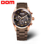 Dom Run Seconds Timer Multifunction Steel Rubber Waterproof Sport Leisure Watch