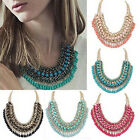 Fashion Jewelry Crystal Chain Choker Bib Chunky Statement Women Pendant Necklace