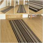 Strike Brown - Hallway Carpet Runner Rug Mat For Hall Extra Very Long Cheap New