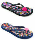 Ladies Pineapple Island Mixstar Flip Flops Floral with Roses - 2 Colours