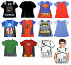 STAR WARS MARVEL AVENGERS SPIDERMAN BATMAN SUPERMAN CHILDRENS T-SHIRT 2yo -7yo