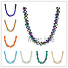 Bulk 53Colors 2x3m Charm 5040# Rondelle Faceted Crystal Glass Loose Spacer Beads
