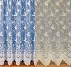 ENCHANTED BUTTERFLY IVORY CREAM NET CURTAINS - Many Sizes - Price Per Meter