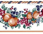 Classic Kitchen Fruit White Blackberry Bluberries Apples Wallpaper Border Edge