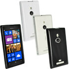 Glossy TPU Gel Skin Case Cover for Nokia Lumia 925 Windows + Screen Protector