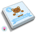 Personalised Blue BEAR 1st 2nd 3rd Birthday Party Bag Favour Chocolates