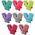 Cold Storage Women's 3M Thinsulate Fleece Lined Ski Gloves  Multiple Colors