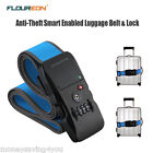 Adjustable Bluetooth Belt Luggage Suitcase Strap  with Security Combination Lock