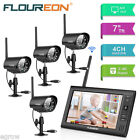 "Outdoor Wireless Digital DVR CCTV Camera Security System 7.0"" LCD Monitor Record New"