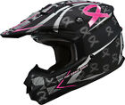 Gmax GM76X Pink Ribbon Offroad Helmet Matte Black/Pink Adult All Sizes