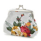 Women Small Change Coin Wallet Flower Purse Hasp Canvas Clutch Small Wallet Bags