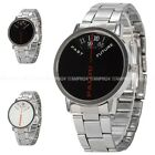Fashion Mens Stylish Dial Alloy Band Analog Quartz Military Wrist Sport Watch