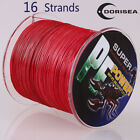 16 Strands 100M-2000M 20-300LB Red Hollow pe Dyneema Braided Fishing Line Pro