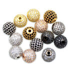 AAA Zircon Pave Round Ball Rhinestones Bracelet Connector Charm Beads Crystal