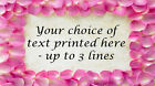 Rose Petal Border Personalised Handmade Craft Stickers ~ mini/medium size labels