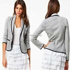 Womens Blazer Long Sleeve Lapel Collar OL Casual Two Button Suit Jacket Coat N4U