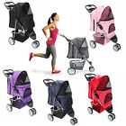 OxGord Pet Stroller Cat Dog 3 Wheel Easy Walk Jogger Travel Folding Carrier