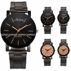 Fashion Sport Analog Casual Stainless Steel Band Quartz Mens Women Wrist Watch