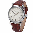 Genuine AgentX Quartz Leather Dress Mens Sport Wrist Date Display Watch