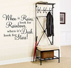 When It Rains... - Wall Quote Decal Sticker