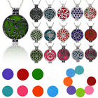 Aromatherapy Pendant Necklace Scent Essential Oil Diffuser Perfume Locket Cage