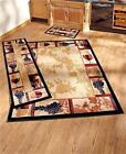 DECORATIVE WINE GRAPE THEMED AREA ACCENT OR RUNNER RUG HOME DECOR JUTE BACKING