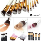 VANDER 10 tlg Pinsel Set Make-up Brush Professionelle Kosmetik Schminkpinsel Set