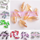 18mm 20pcs Faceted Oval Rugby Crystal Glass Loose Spacer Beads Jewelry Making