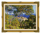 Claude Monet Bordighera Seascape Framed Canvas Art Print Painting Reproduction