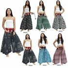 Pants PRE50-5 Thailand Cotton 2in1 Wide leg Harem Tribal Gypsy Hippie Boho Women