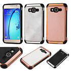 For Samsung Galaxy On5 IMPACT HYBRID Plating Case Skin Phone Cover +Screen Guard