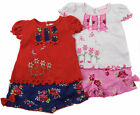 Baby Girls Shorts T-shirt Headband Summer Sets Red and Navy or Pink and White