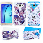 For Samsung Galaxy On5 Astronoot HARD Hybrid Rubber Silicone Case + Screen Guard