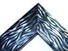 2 Wide Black Wave Wood Canvas Picture Frame Custom Made Square Sizes